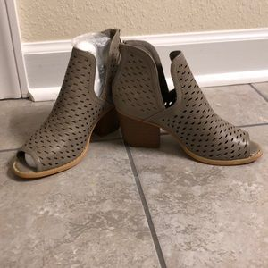 Brand new Open toe booties size 5.5